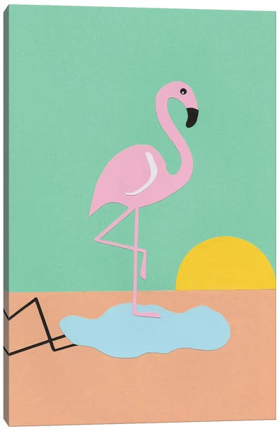 Flamingo Herbert Canvas Art Print