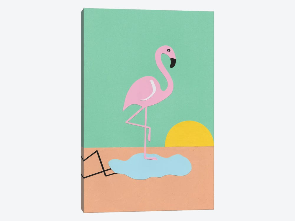 Flamingo Herbert by Rosi Feist 1-piece Canvas Print