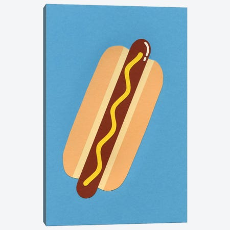 American Hot Dog Canvas Print #RFE3} by Rosi Feist Canvas Artwork