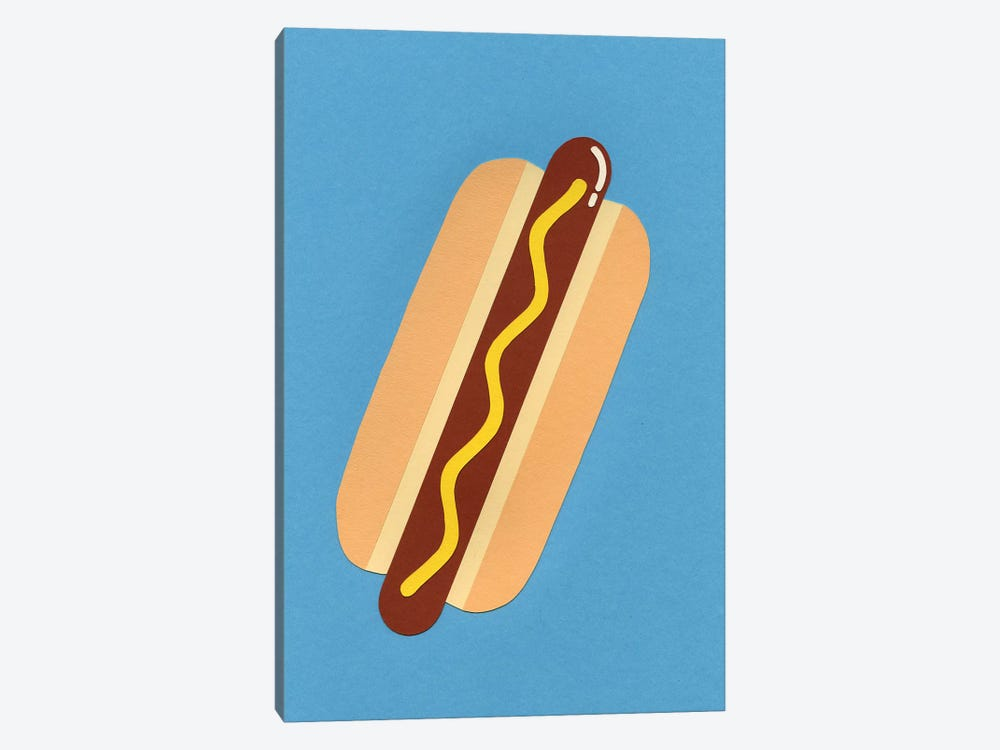 American Hot Dog by Rosi Feist 1-piece Canvas Art Print