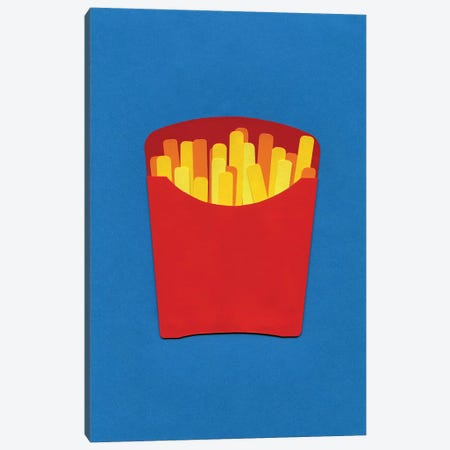 French Fries In Carton  3-Piece Canvas #RFE41} by Rosi Feist Canvas Wall Art