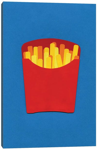 French Fries In Carton  Canvas Art Print