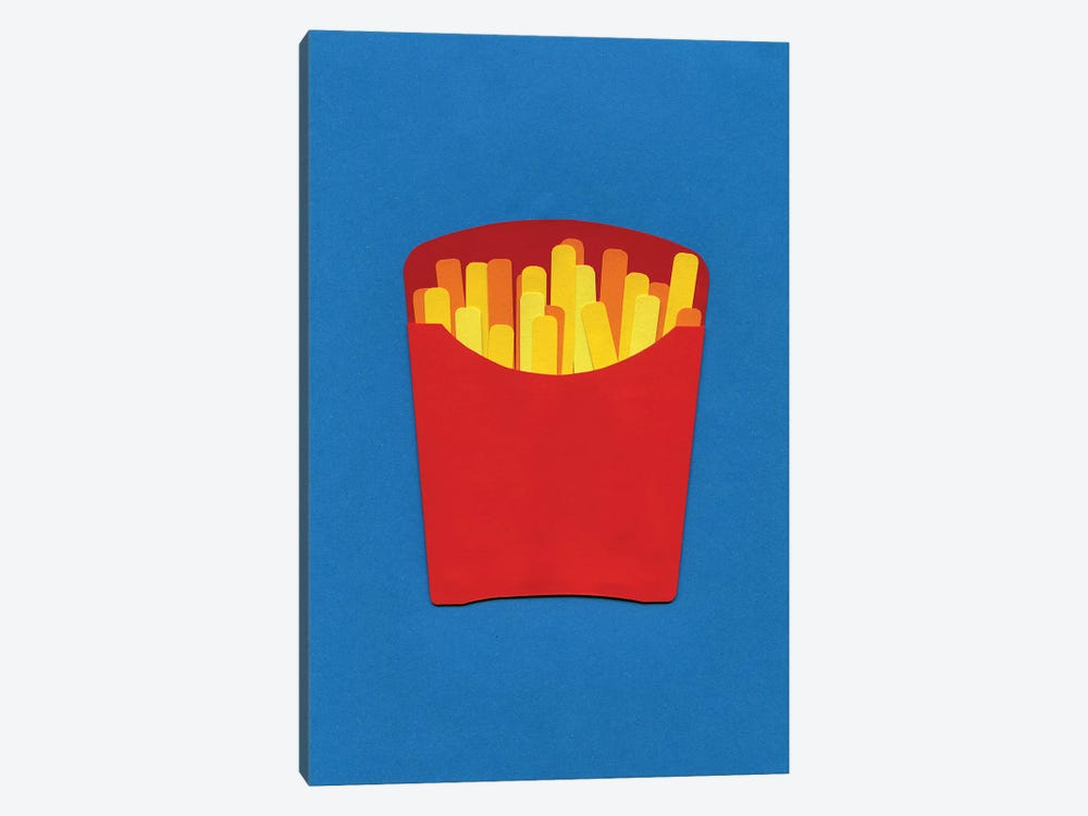 French Fries In Carton  by Rosi Feist 1-piece Canvas Art