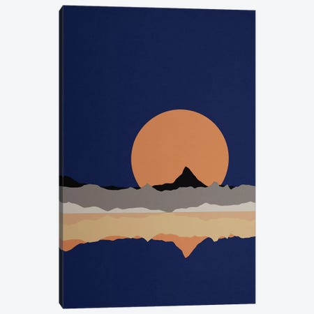 Full Moon Rising Over Sierra Nevada Mountains Canvas Print #RFE43} by Rosi Feist Canvas Art