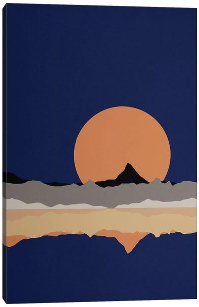 Full Moon Rising Over Sierra Nevada Mountains Canvas Art Print