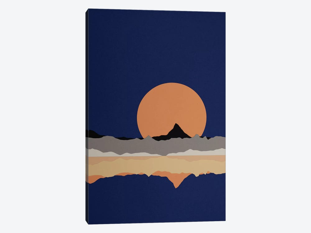 Full Moon Rising Over Sierra Nevada Mountains by Rosi Feist 1-piece Canvas Art