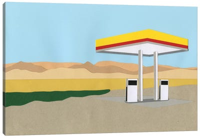 Gas Station Death Valley Canvas Art Print