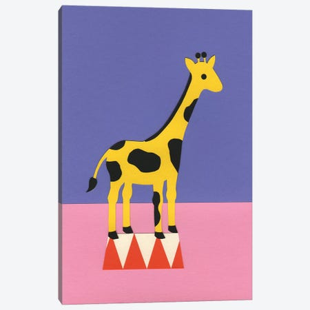 Giraffe Aloopi Canvas Print #RFE47} by Rosi Feist Art Print