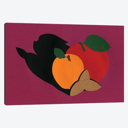 Apple Apricot Almond Canvas Print #RFE4} by Rosi Feist Art Print