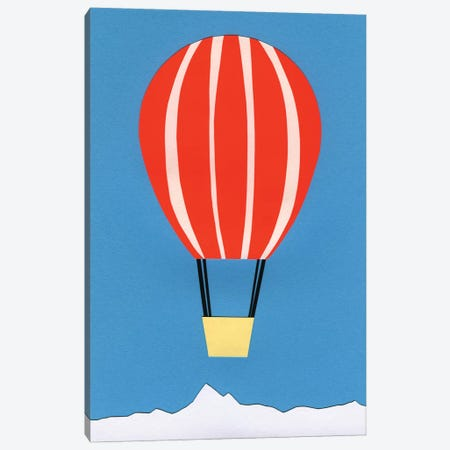 Hot Air Balloon 3-Piece Canvas #RFE50} by Rosi Feist Canvas Art Print