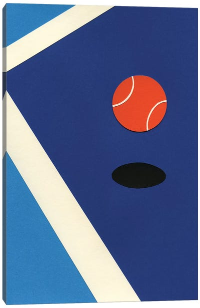 Jumping Tennis Ball Canvas Art Print