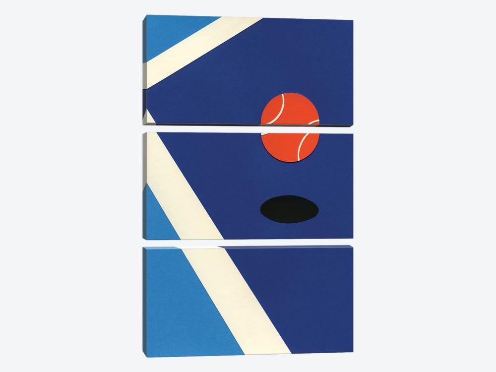 Jumping Tennis Ball by Rosi Feist 3-piece Art Print