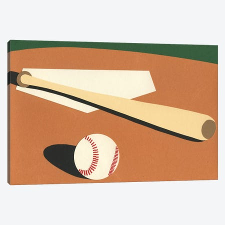LA Baseball Field 3-Piece Canvas #RFE55} by Rosi Feist Canvas Artwork
