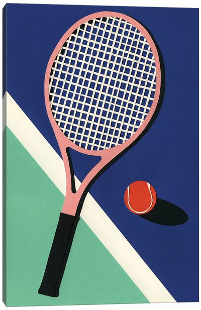 Malibu Tennis Club Canvas Art Print