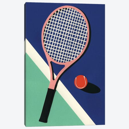 Malibu Tennis Club 3-Piece Canvas #RFE59} by Rosi Feist Canvas Print