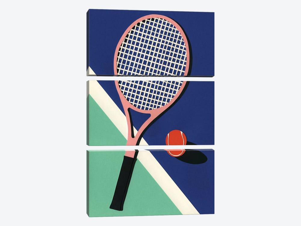 Malibu Tennis Club by Rosi Feist 3-piece Canvas Art Print