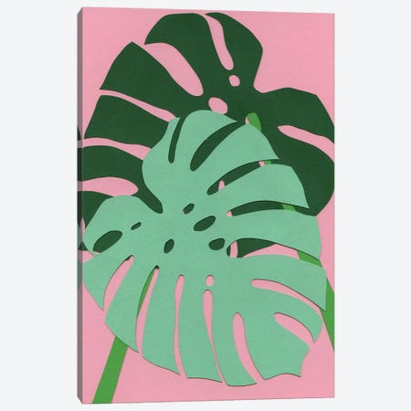 Monstera 3-Piece Canvas #RFE62} by Rosi Feist Canvas Artwork