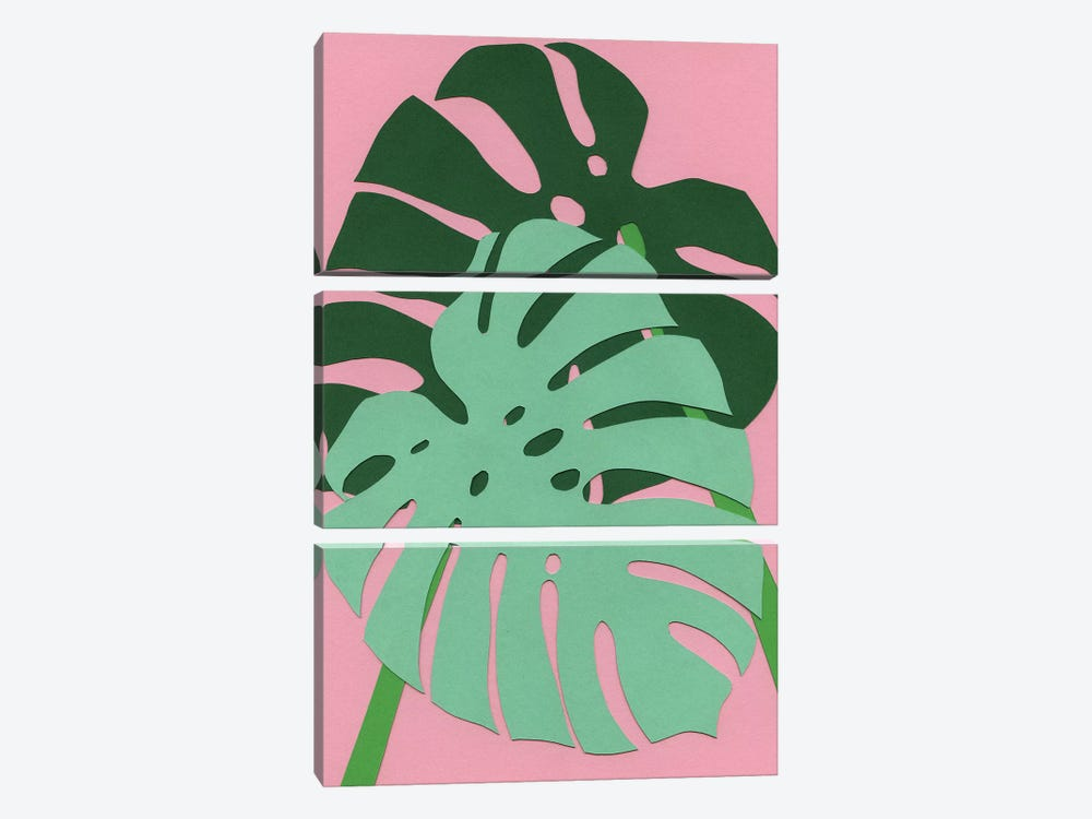 Monstera by Rosi Feist 3-piece Canvas Print