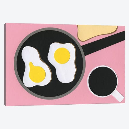 Mr. D'z Breakfast 3-Piece Canvas #RFE64} by Rosi Feist Canvas Art Print