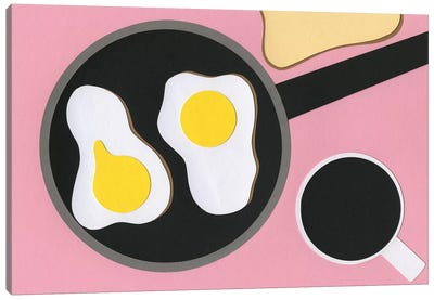 Mr. D'z Breakfast Canvas Art Print