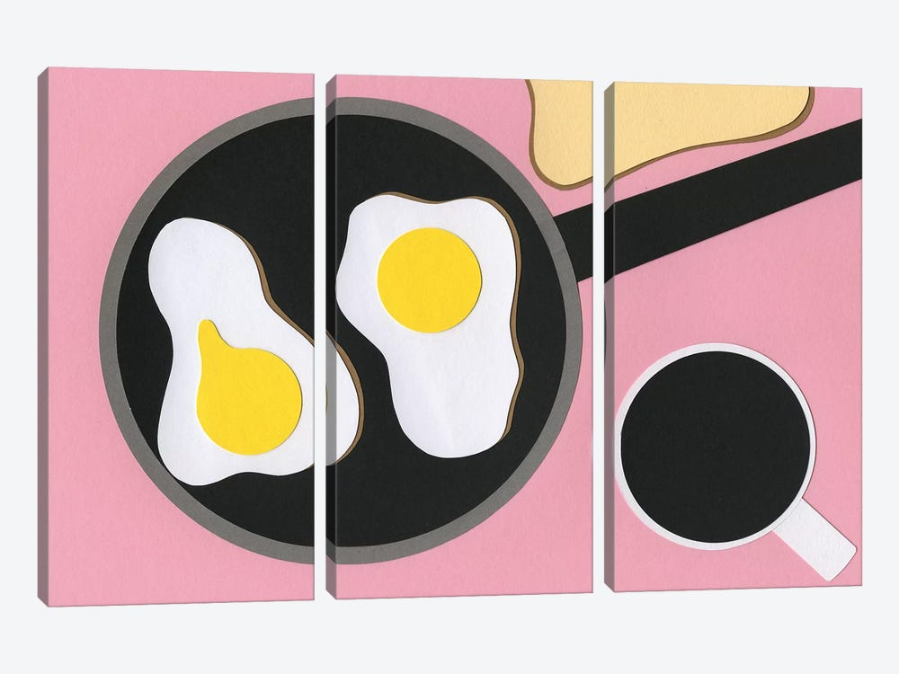 Mr. D'z Breakfast by Rosi Feist 3-piece Canvas Print