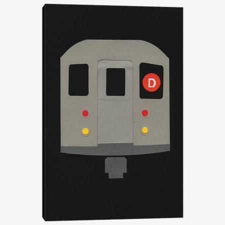 New York Subway Car R62 3-Piece Canvas #RFE66} by Rosi Feist Canvas Art Print