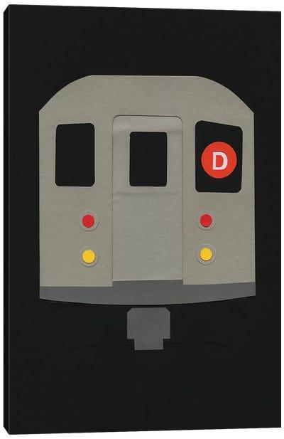 New York Subway Car R62 Canvas Art Print