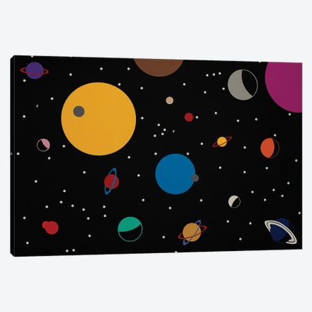 Outer Space 3-Piece Canvas #RFE72} by Rosi Feist Art Print