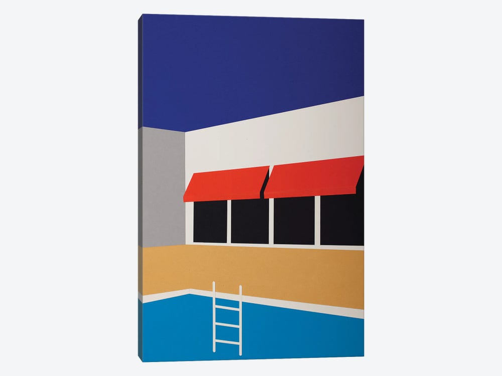 Palm Springs Pool House I by Rosi Feist 1-piece Canvas Print