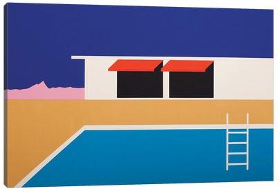 Palm Springs Pool House II Canvas Art Print