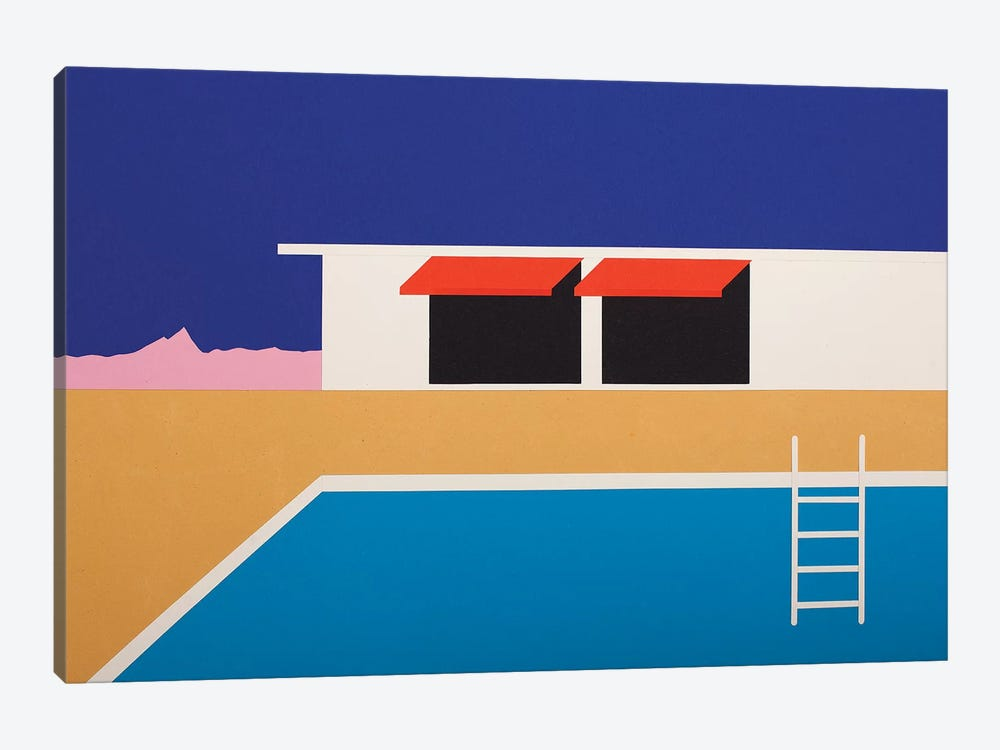 Palm Springs Pool House II by Rosi Feist 1-piece Canvas Wall Art