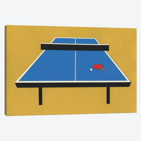 Ping Pong Table 3-Piece Canvas #RFE76} by Rosi Feist Canvas Wall Art
