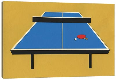 Ping Pong Table Canvas Art Print