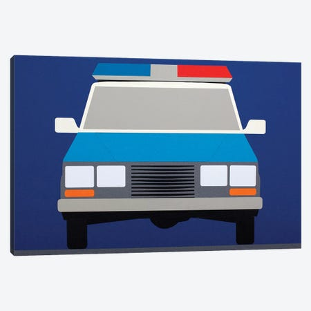 Police Car 1988 Canvas Print #RFE79} by Rosi Feist Art Print