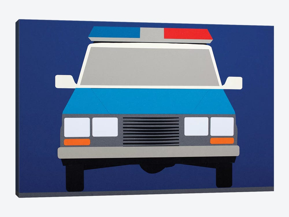 Police Car 1988 by Rosi Feist 1-piece Art Print