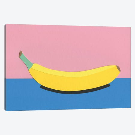 Banana Canvas Print #RFE7} by Rosi Feist Art Print