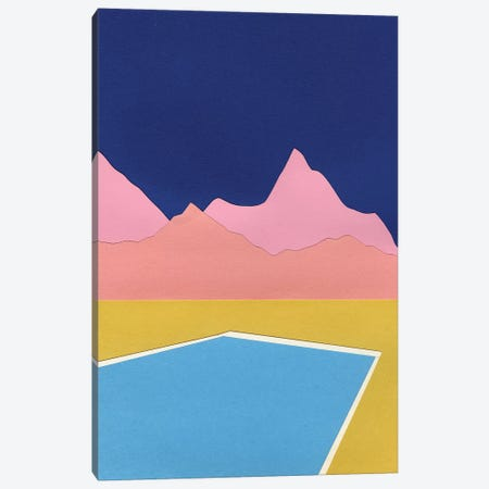 Pool In The Hills 3-Piece Canvas #RFE80} by Rosi Feist Canvas Artwork