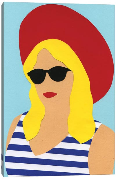 Portrait Of Marli Canvas Art Print