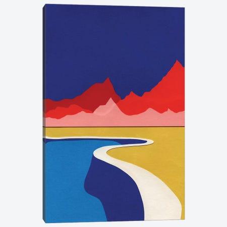 Red Hills Desert Pool Canvas Print #RFE83} by Rosi Feist Canvas Wall Art