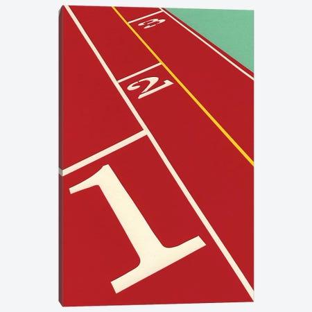 Running 1-2-3 Canvas Print #RFE89} by Rosi Feist Canvas Art