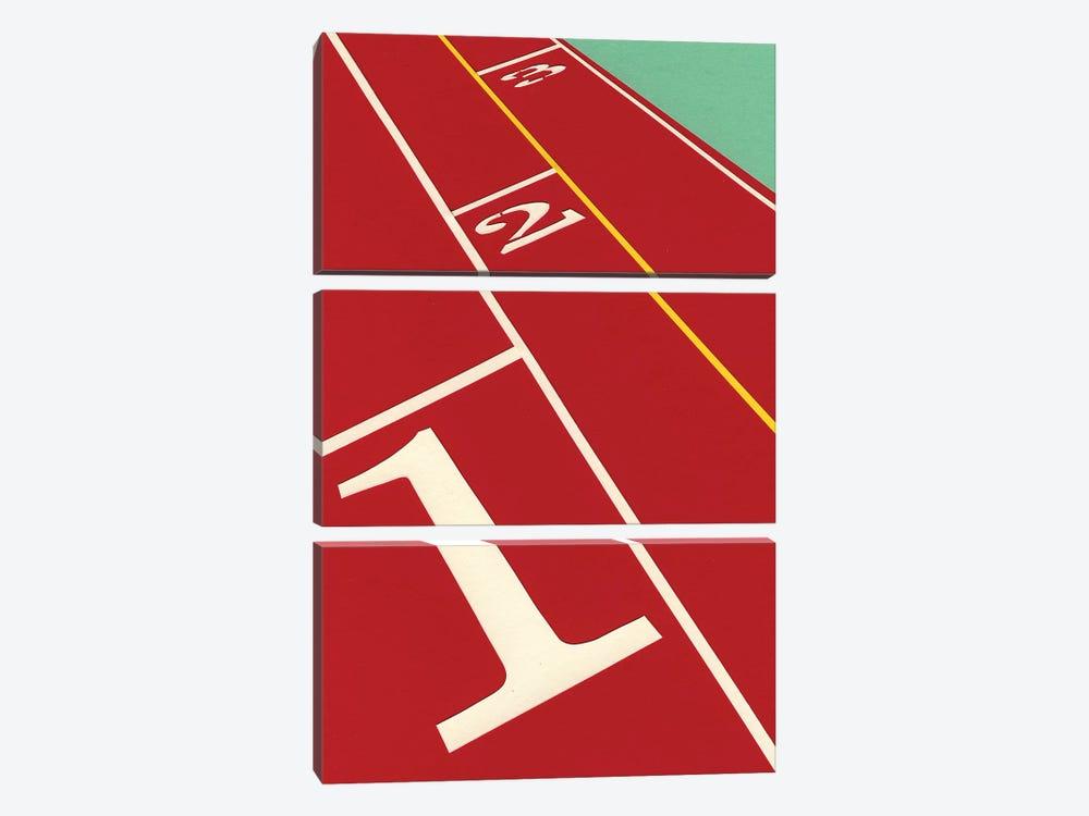 Running 1-2-3 by Rosi Feist 3-piece Canvas Art
