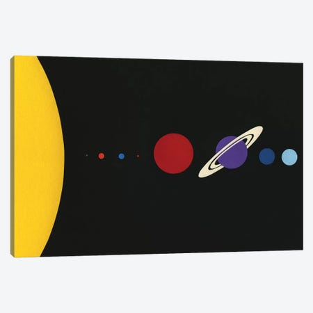 Solar System Canvas Print #RFE96} by Rosi Feist Canvas Artwork