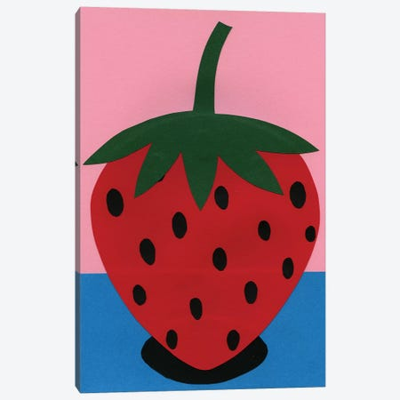 Strawberry Canvas Print #RFE98} by Rosi Feist Canvas Art Print