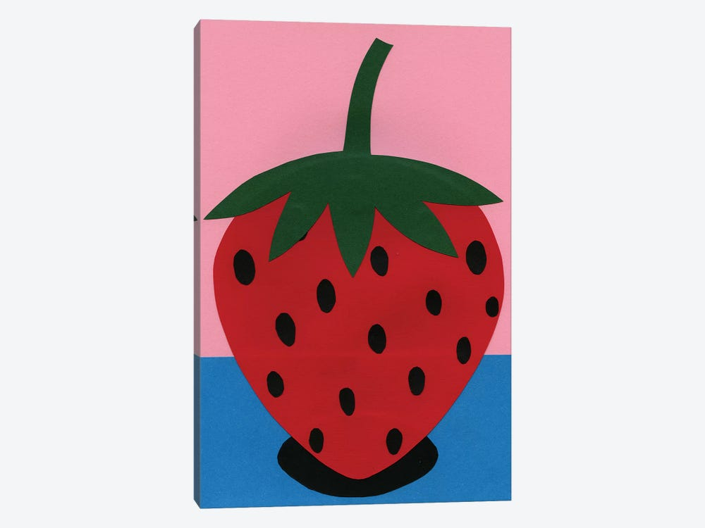Strawberry by Rosi Feist 1-piece Canvas Wall Art