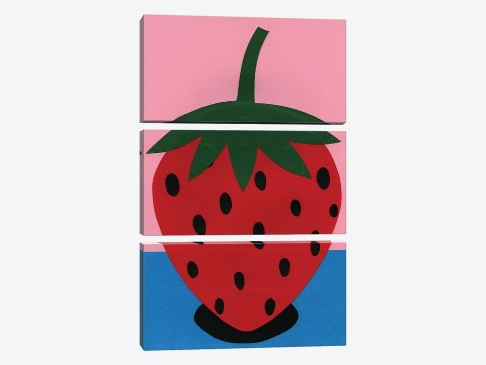 Strawberry by Rosi Feist 3-piece Canvas Wall Art
