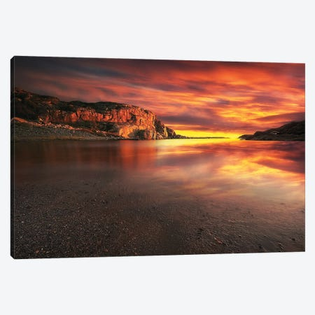 Red Sunset Canvas Print #RFL124} by Rafal Kaniszewski Canvas Print