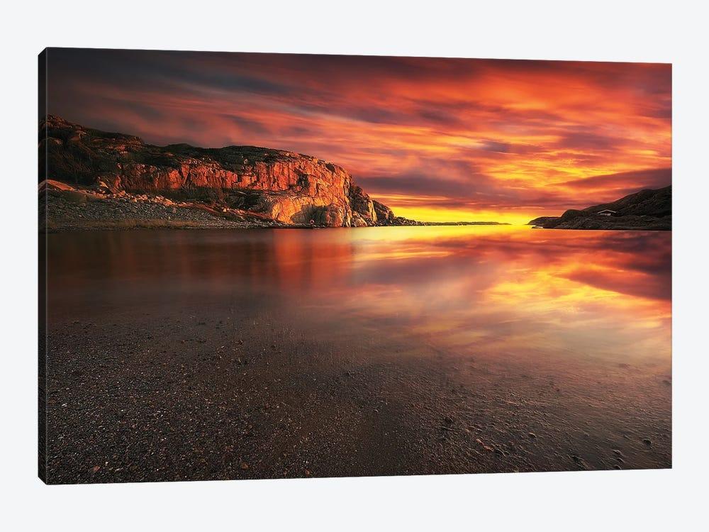 Red Sunset by Rafal Kaniszewski 1-piece Art Print
