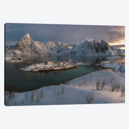 Sunrise In Lofoten - Norway Canvas Print #RFL135} by Rafal Kaniszewski Canvas Art