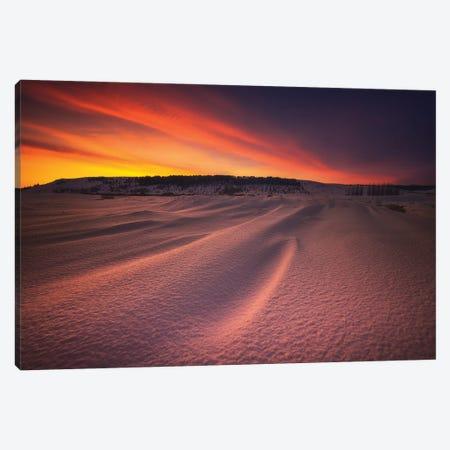 Red Sunset - Iceland Canvas Print #RFL142} by Rafal Kaniszewski Canvas Art