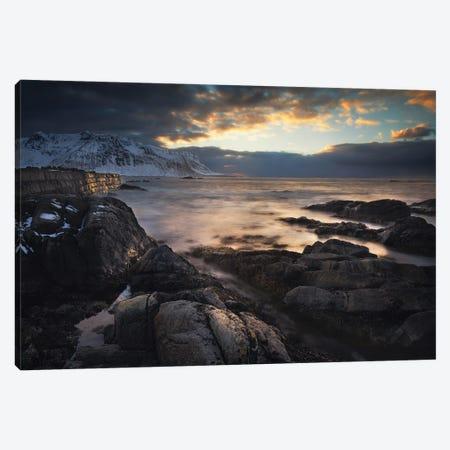 Sunset Lofoten Islands - Norway Canvas Print #RFL143} by Rafal Kaniszewski Canvas Art